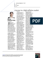 FT - How to Find an Income in a High-Inflation Market (17 Sept 11)