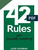 42 Rules of Sensible Investing