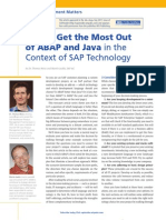 How to Get the Most Out of ABAP and Java in the Context of SAP Technology