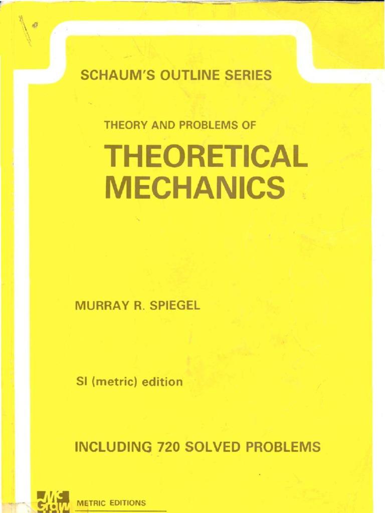 theory and problems of theoretical mechanics schaum outline rh scribd com