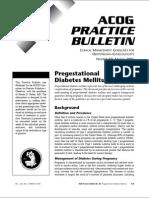 妊娠糖尿病的临床实践指南