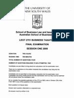 Legt2751 s1 2008 Final Exam
