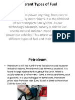 Different Types of Fuel