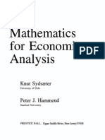 Sydsaeter Hammond - Mathematics for Economic Analysis