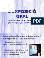 EXPOSICIÓ ORAL