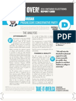 CFS Ontario 2011 Progressive Conservative Party Report Card on PSE