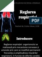 reglarea respiratiei