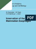 167-Innervation of the Mammalian Esophagus