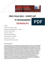 PRIX ITALIA - Short List2011