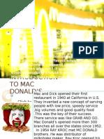 Mc Donald Strategy