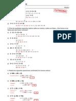 Refuerzo - Números enteros - Ejercicios (III) Soluciones
