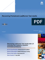 Best_Practice_Recovering Pre Matured Load Runner Test Results