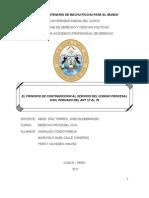 El Principio de Contradiccion Al Servicio Del Codigo Procesal Civil Peruano Del Art 57 Al 79