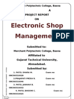 Electronic Shop Management System