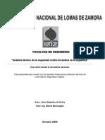 Tesis - Análisis técnico de la seguridad contra incendios en la argentina, una visión desde la normativa nacional. 02-11-09