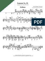 Telemann- 'Fantasia IX' Guitar Solo arranged by Brian Roberts