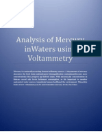 Introduction to Analysis of Mercury in Waters
