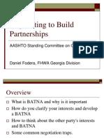 Negotiating for Partnerships