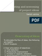 Generating and Screening of Project Ideas P.F.3 (Final)
