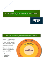 Changing Organisational Environment