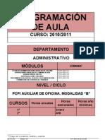 Programación PCPI administrativo
