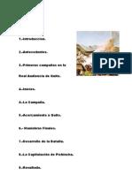 Batalla de Pichincha Documento