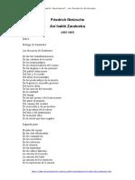 Asi Hablo Zaratustra - Friedrich Nietzsche