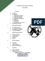 PROGRAMA POLÍTICO SINDICATO ESTUDIANTIL.
