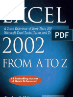 Exel 2002 From A to Z