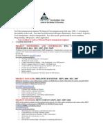 Curriculum Vitae 17 July 2011