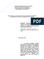 MONOGRAFIA - Direito Do or - Dano Moral Causado Por Inclusao Indevida Do Nome Do or No Servico de Protecao Ao Credito - 1998