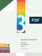 Programa de estudio 2009 3°