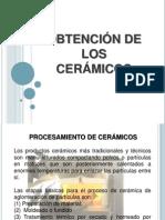 OBTENCIÓN DE LOS ceramicos
