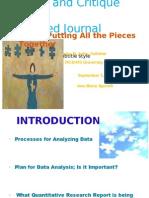 HCS443 Week 5 Critique of Quantative Study FINAL