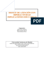 Hiperactividad IMPLICANCIAS EDUCATIVAS