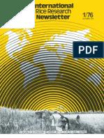 International Rice Research Newsletter Vol.1 No.1