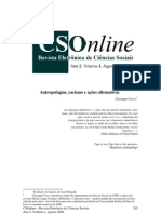 Antropofagia, Rascimo e ações afirmativas - Giuseppe Cocco