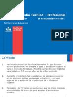 Propuesta del Mineduc paa la Educación Técnico Profesional, septiembre 2011