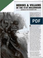 Warhammer 40K Heroes & Villains of the 41st Millennium