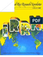 International Rice Research Newsletter Vol.5 No.1