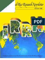 International Rice Research Newsletter Vol.6 No.4