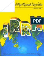 International Rice Research Newsletter Vol.6 No.1