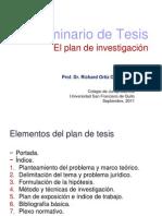 Elementos del plan de tesis