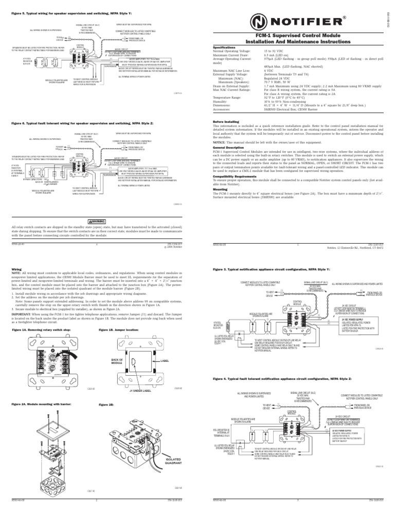 fcm 1 relay electrical wiring rh scribd com Notifier FCM-1 Annunciator Panel
