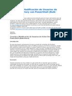 Creación y Modificación de Usuarios de Active Directory con PowerShell