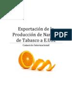 Exportación de Naranja (México-EUA)