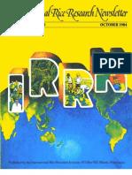 International Rice Research Newsletter Vol.9 No.5