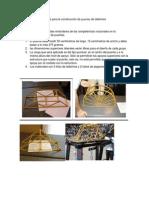 Bases para la construcción de puentes de tallarines