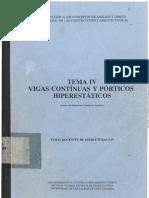VIGAS CONTÍNUAS Y PÓRTICOS HIPERESTÁTICOS