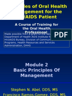 Basic Principles of Oral Health Management for the HIVAIDS Patient